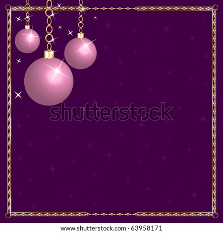 Raster version Illustration of a Christmas Pink Purple Ornaments.