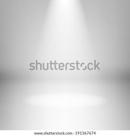 Raster version. Illustration of empty light room with highlight - stock photo