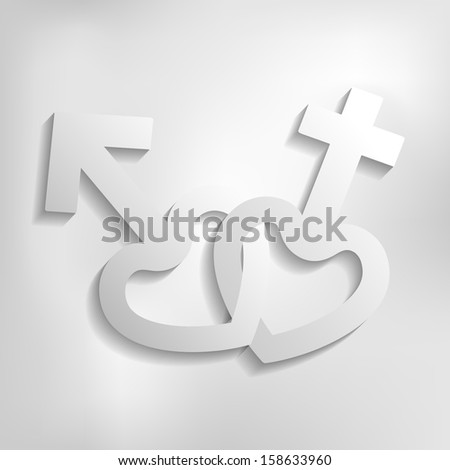 raster version male and female icon - stock photo