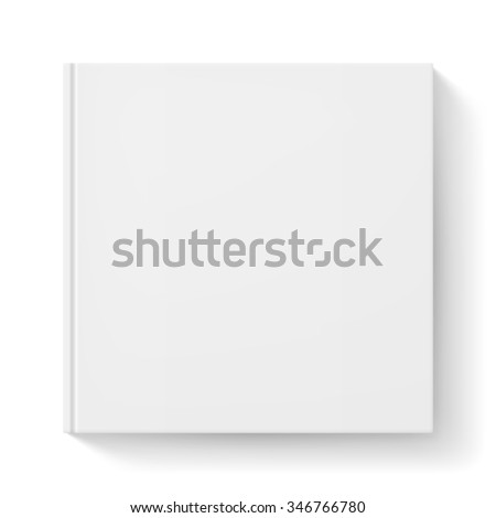 Raster version. Notebook with white cover. Illustration for design