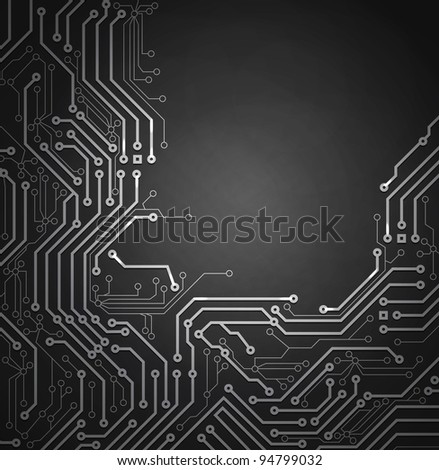 raster version of Black Abstract background of digital technologies - stock photo