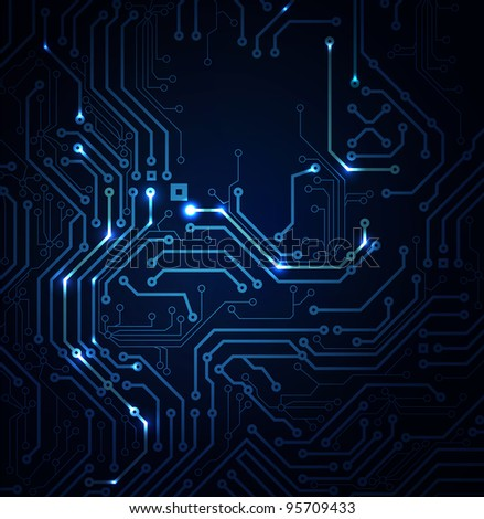raster version of blue Abstract background of digital technologies - stock photo