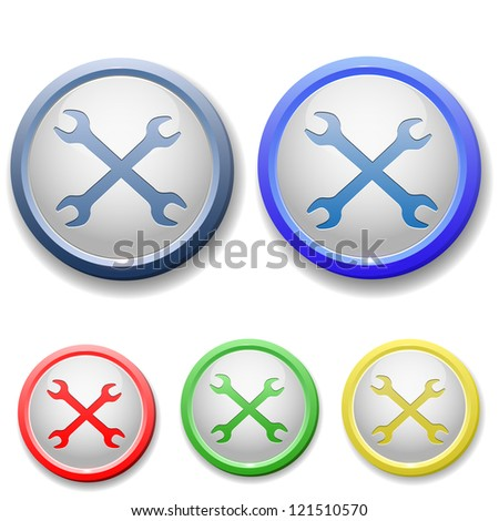 raster version of circle wrench icon - stock photo