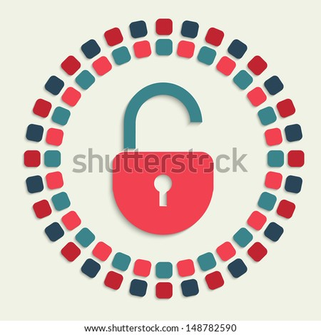 raster version of creative mosaic icon - stock photo