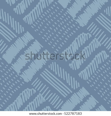 raster version of hand drawn blue color  seamless pattern