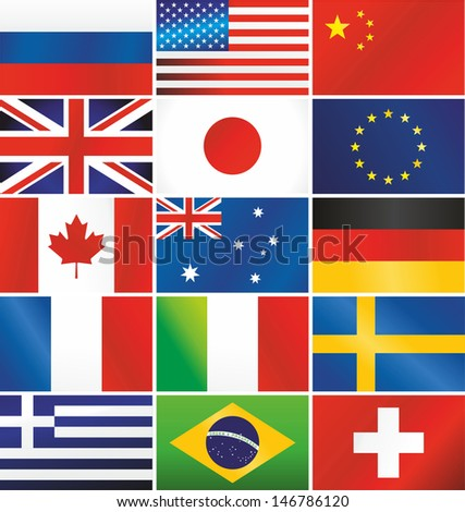 Raster version of most popular vector flags illustration.Vector file is also available in my portfolio - stock photo
