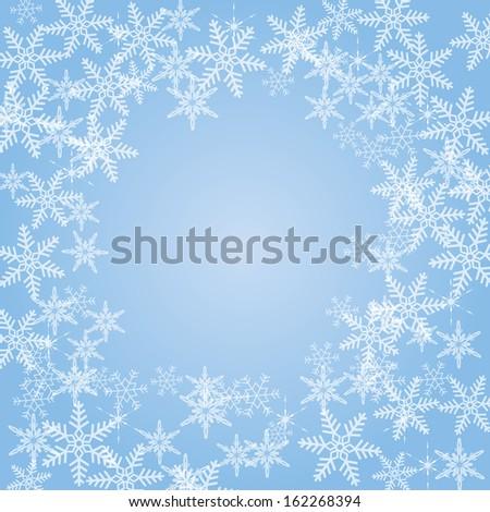 raster version of snowflakes background - stock photo