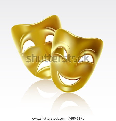 Raster version of vector atrical mask on a white background