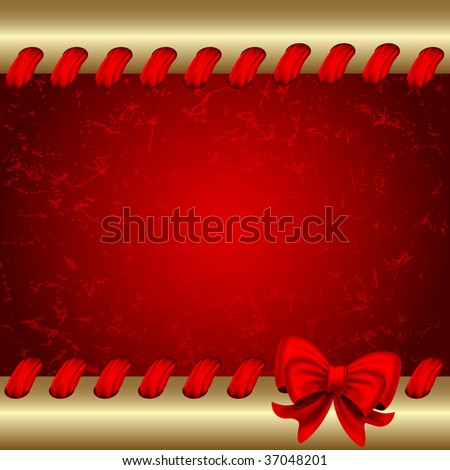 Raster version of vector christmas background with  bow