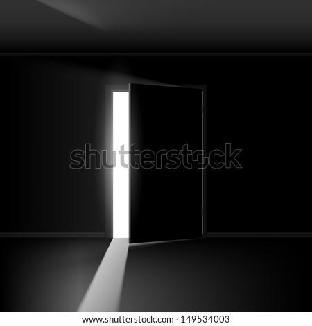 Open Door Dark Room dark room light stock images, royalty-free images & vectors