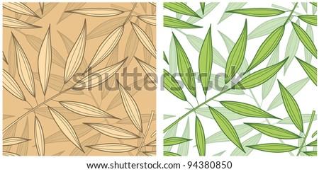 Raster version seamless bamboo pattern background - stock photo
