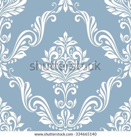 Raster version. Seamless vintage floral pattern luxury background style - stock photo