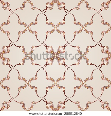 Raster version. Symmetrical copy patterns on the light background.