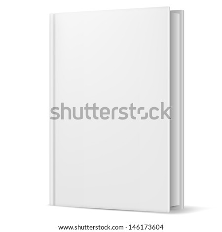 Raster version. White book. Illustration on white background for design - stock photo