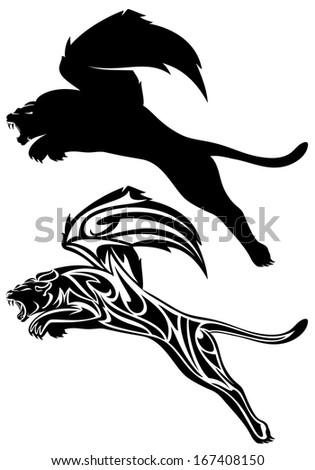 Winged lion tattoo - photo#47