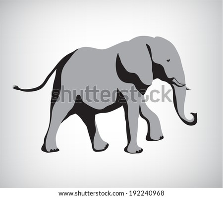 rasterized copy of vector. elephant illustration silhouette isolated - stock photo