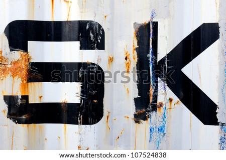 Rasty metal texture - stock photo