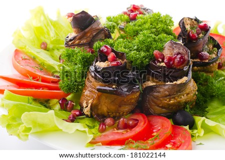 Ratatouille, French dish of stewed vegetables - stock photo