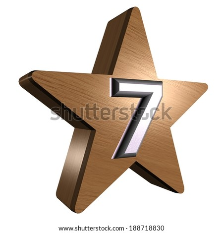 rate star number - stock photo