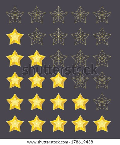 rating stars - stock photo