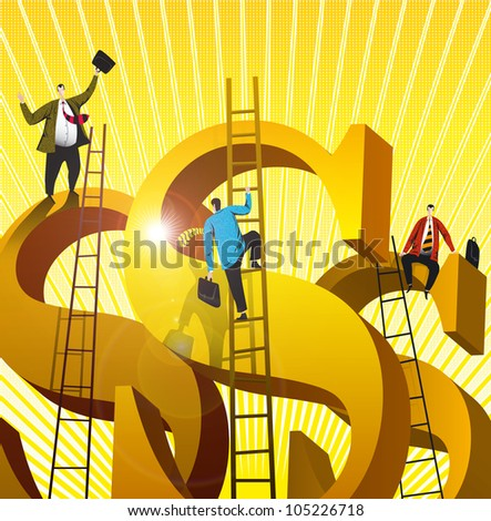 Ratings for rich people - stock photo