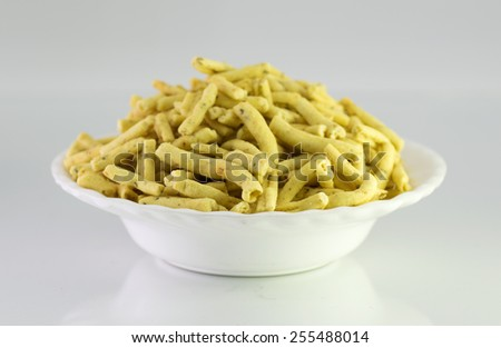 Ratlami Sev:Snacks of chick peas with punch of clove. - stock photo