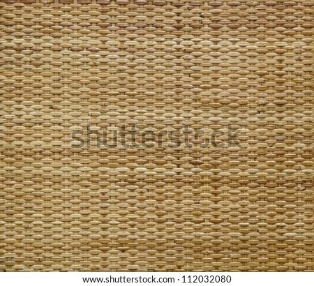 Rattan background, texture with copy space - stock photo