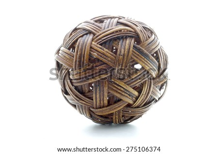 Rattan ball, bamboo ball - stock photo