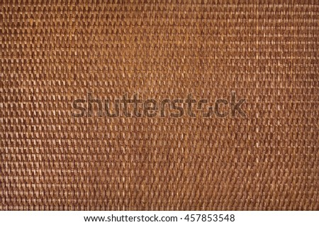 rattan texture background material dark brown horizontal - stock photo