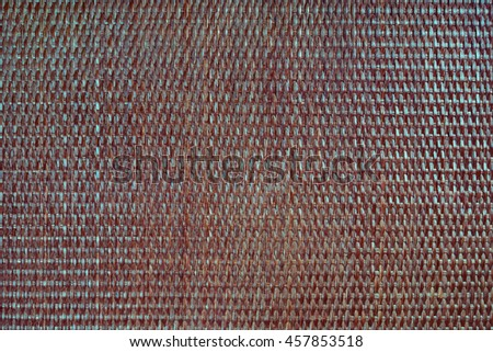 rattan texture material brown blue background horizontal - stock photo