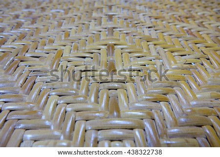 rattan weave background,close up,select focus with shallow depth of field. - stock photo