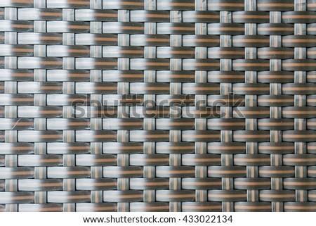 Rattan weave texture background - stock photo