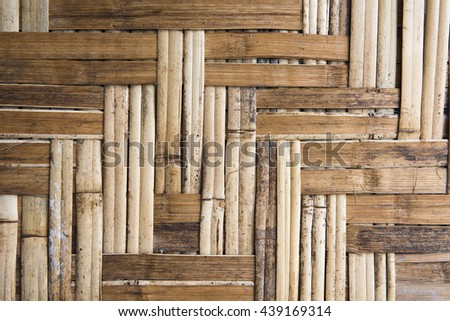 rattan weave wall background, close up, texture - stock photo
