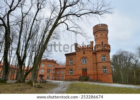 Raudone Castle is a residential castle in Raudone, Lithuania