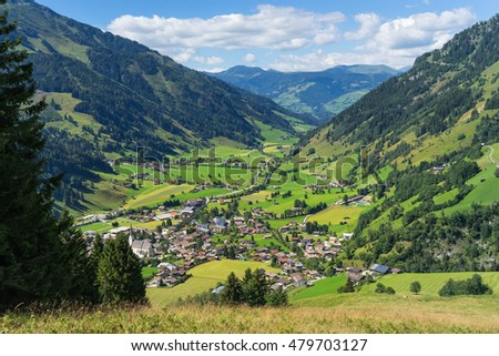 Rauris Alpine valley at Summer