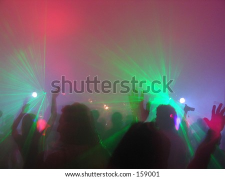 Rave party - stock photo