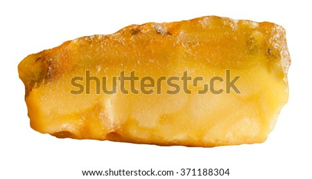 raw amber natural mineral gem stone isolated on white background - stock photo