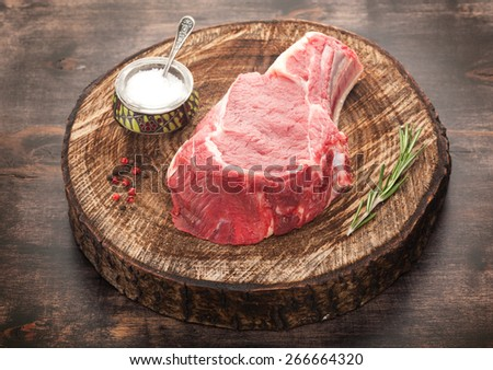 Raw beef meat  - stock photo