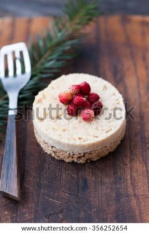 Raw cheese cake - stock photo