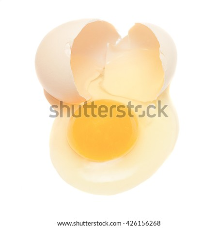Raw chicken egg isolated on a white background