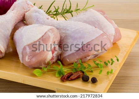 Raw chicken legs - ready for cooking - stock photo