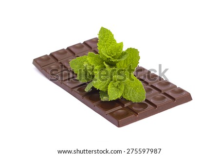 raw chocolate on a white background
