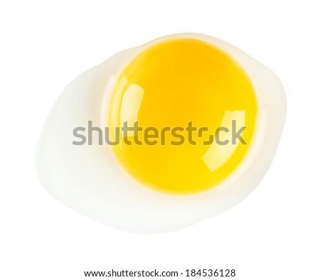 Raw egg isolated on white background - stock photo