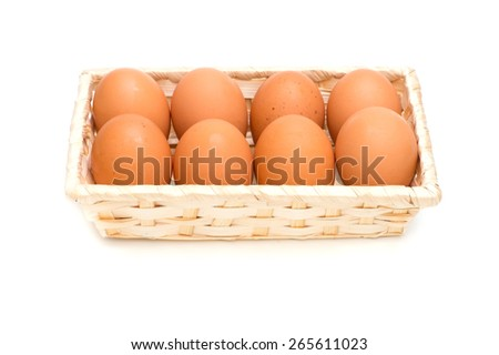 Raw Egg, on white background.