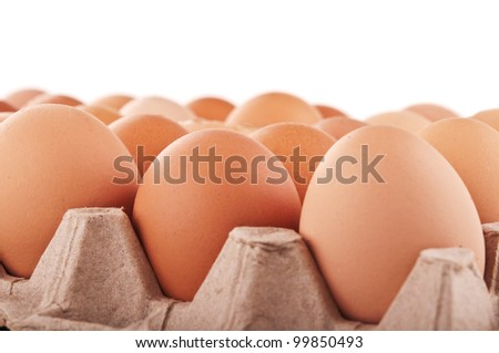 raw eggs isolated on a white background