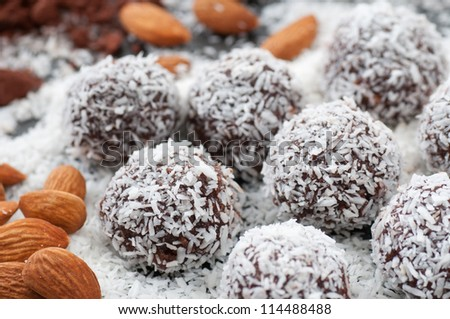 Raw Food Candy Balls - stock photo