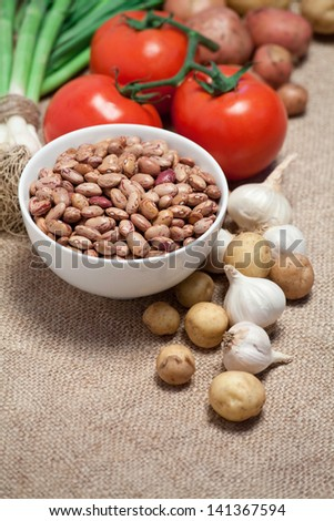 raw food on the table - stock photo