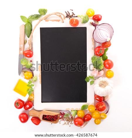 raw food,recipe concept - stock photo