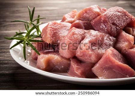 Raw, fresh meat  - stock photo