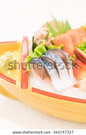 Raw fresh Sashimi japanese food style - selective focus point